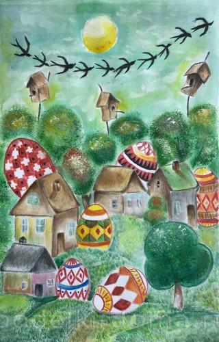 Рисунки на тему «Пасха»